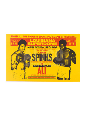 Muhammad Ali / Leon Spinks II Broadside