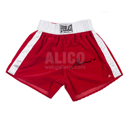 Muhammad Ali Autographed Boxing Trunks