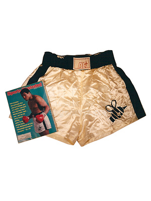 Muhammad Ali's Butterfly and Bee Sports Illustrated Trunks