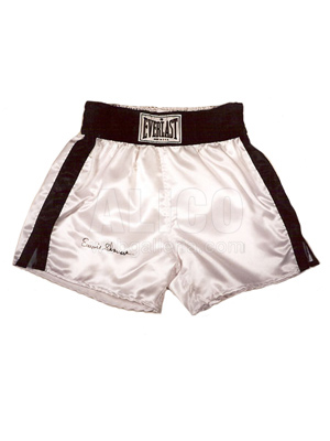 Earnie Shavers Autographed Boxing Trunks