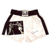 Cassius Clay Autographed Trunks & 8 x 10