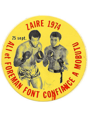 Muhammad Ali / George Foreman Decal