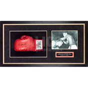 Cassius Clay / Tunney Hunsaker Autographed Glove with 8 x 10