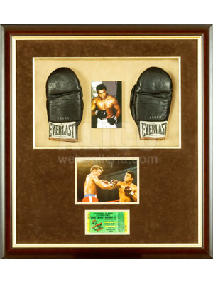 Muhammad Ali Training Gloves, On-site Ticket and Fight Photo