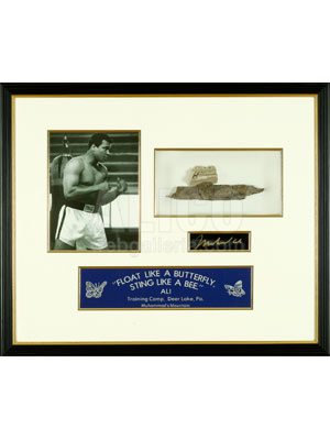 Muhammad Ali Training Camp Collection with Mortar & Bark from Ali's Cabin