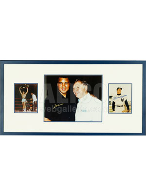 Tribute to 2 Legends: Muhammad Ali & Micky Mantle with 3 Authentic Autographs