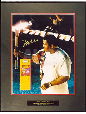 "Muhammad Ali 16 x 20"" color photo of carrying the Olympics torch"