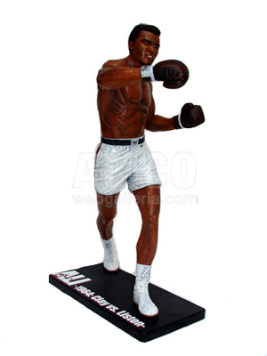 "Muhammad Ali 18"" Figure with motion-activated sound."