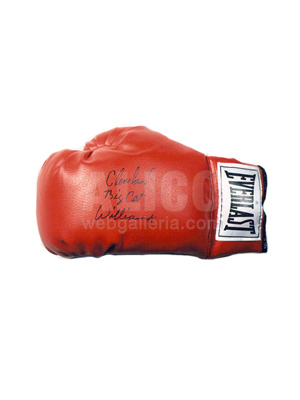 "Cleveland ""Big Cat"" Williams Autographed Boxing Glove"