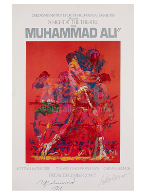 """Red Boxers"" Serigraph by leRoy Neiman"