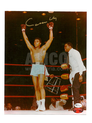 "Cassius Clay / Sonny Liston I Autographed 8 x 10"" Photo"
