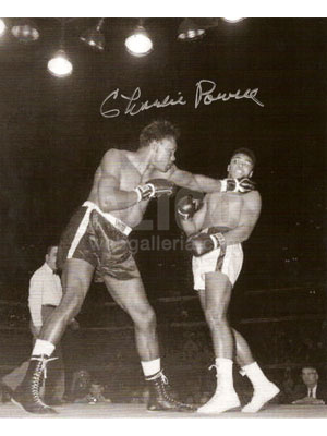"Cassius Clay / Charlie Powell Autographed 8 x 10"" Autographed Photo"