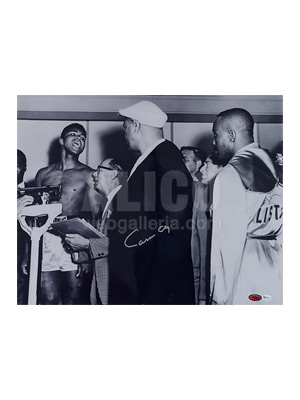 "Cassius Clay / Sonny Liston Autographed 16 x 20"" Weigh-in Photo"