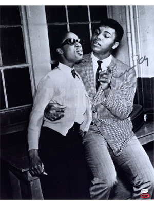 "Cassius Clay / Stevie Wonder Autographed 16 X 20"" Photo"