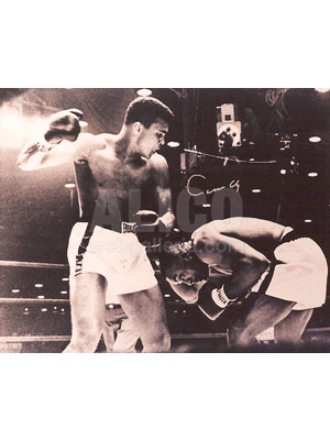 "Cassius Clay / Sonny Liston I Autographed 16 x 20"" Photo"