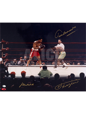"Muhammad Ali / Joe Frazier 16 x 20"" classic color photo"