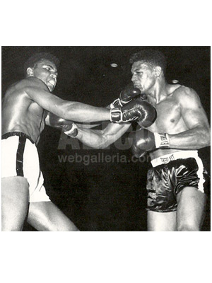 Cassius Clay / Alonzo Johnson Black/White Press Photo