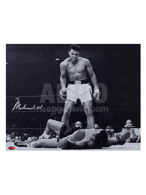 "Muhammad Ali / Sonny Liston II Autographed 16 x 20"" Photo"
