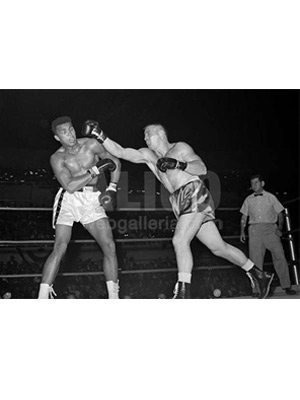 Cassius Clay / George Logan Wire Photo