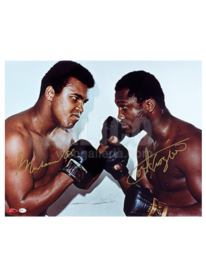"Muhammad Ali / Joe Frazier Autographed 16 x 20"" Nose-to-Nose Photo"