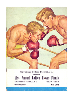 1958 Cassius Clay 31st Annual Golden Gloves Final Program