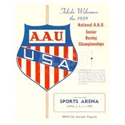 1959 Cassius Clay A.A.U Boxing Program
