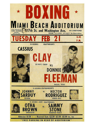 Cassius Clay / Donnie Fleeman Poster