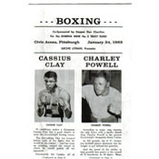 Cassius Clay / Charlie Powell Program
