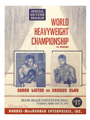 Cassius Clay / Sonny Liston I Program
