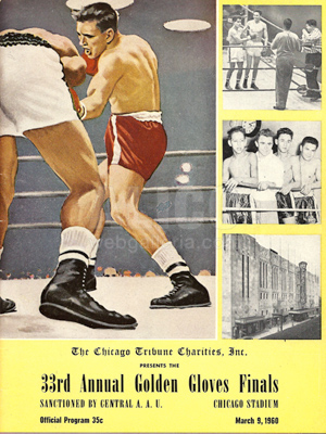1960 Early Cassius Clay Original 33rd Golden Gloves Program