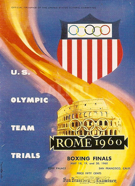 Original Cassius Clay 1960 Olympic Trials Final Program