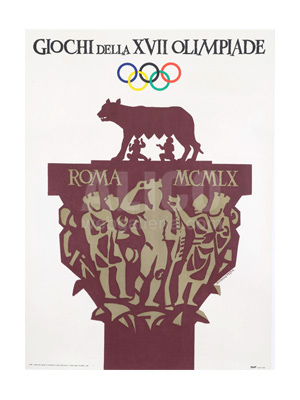 Official Poster from the 1960 Rome Olympics
