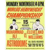 Muhammad Ali / Cleveland Williams Poster
