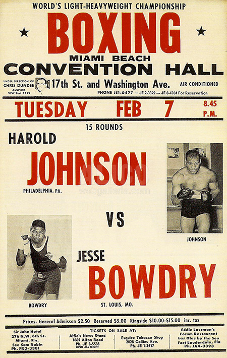 Cassius Clay / Jim Robinson Poster