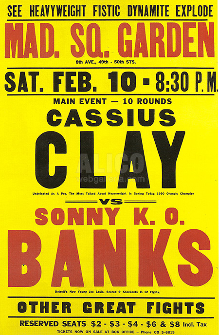Cassius Clay / Sonny Banks Poster