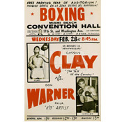 Cassius Clay / Don Warner Poster