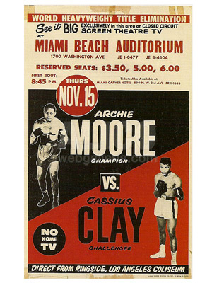 Cassius Clay / Archie Moore Poster