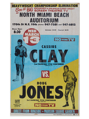 Cassius Clay / Doug Jones Poster