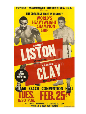 Cassius Clay / Sonny Liston I Poster