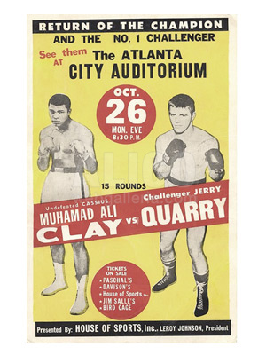 Muhammad Ali / Jerry Quarry I Poster