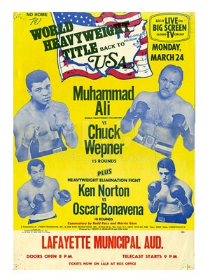 Muhammad Ali / Chuck Wepner Closed Circuit Poster
