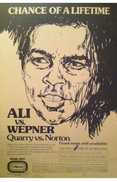 Image result for chuck wepner ali poster