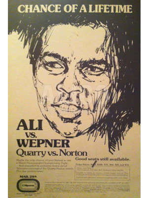Muhammad Ali / Chuck Wepner On-Site Poster