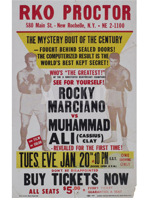 Muhammad Ali / Rocky Marciano Closed Circuit Poster