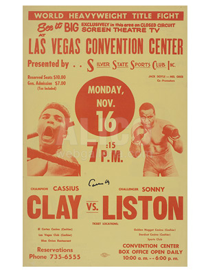 Muhammad Ali / Sonny Liston II Closed Circuit Poster