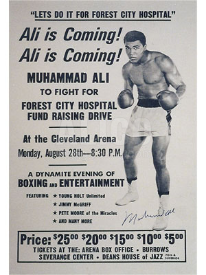 Poster Announcing Fundraiser for Forest City Hospital