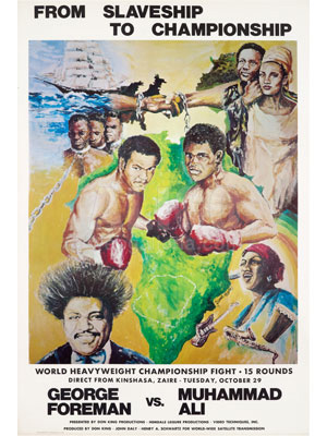 "Muhammad Ali / George Foreman Poster ""From Slave Ship To Championship"""