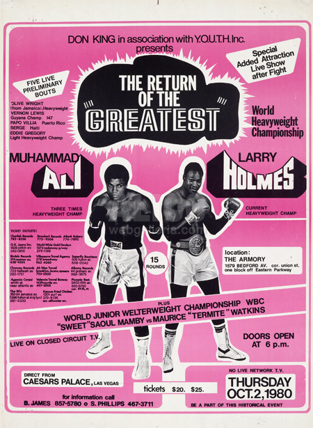 Muhammad Ali / Larry Holmes Closed Circuit Poster