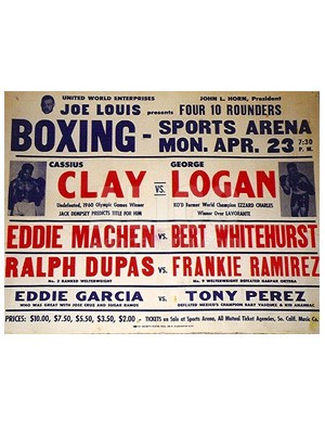 Cassius Clay / George Logan Poster