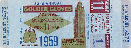 Cassius Clay 1959 Golden Gloves Ticket